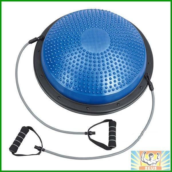 拉繩半圓平衡踏墊(瑜珈球座/平衡球/半圓球/彈力繩踏墊/皮拉提斯/有氧運動/Balance step/Bosu Ball)