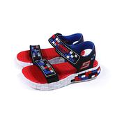 SKECHERS MEGA-CRAFT 運動鞋 涼鞋 童鞋 魔鬼氈 黑/紅 400070LBKSR no298