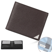 Calvin Klein經典LOGO鐵牌RFID防盜多卡短夾(咖啡色/送帕巾)103093-1