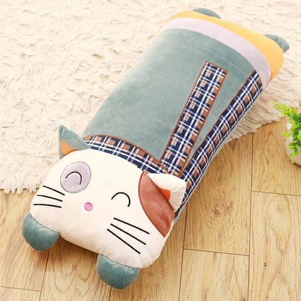 睡覺抱枕公仔貓咪毛絨玩具女生大號可拆洗長條枕頭可愛長抱枕WY【週年慶免運八折】