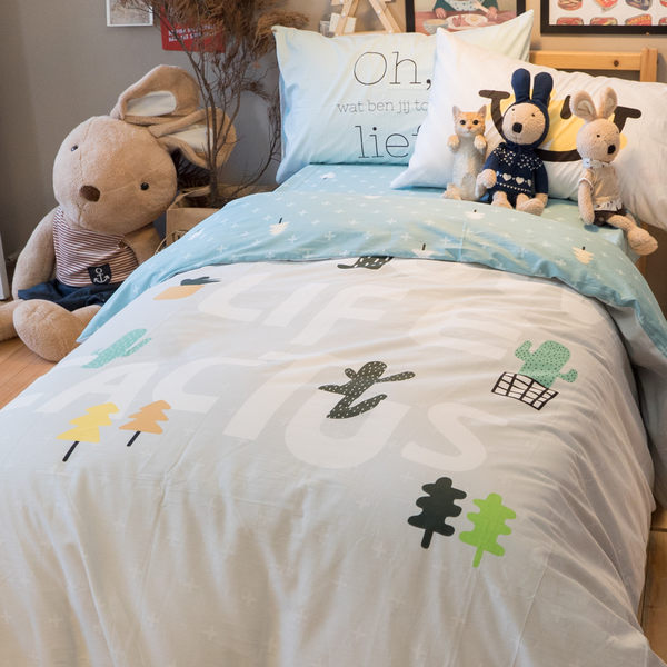 Slow Life  S1單人床包兩件組  100%純棉 高織密度133X72