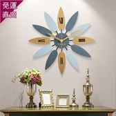 個性創意北歐掛鐘美式現代簡約客廳家用時鐘時尚潮流大氣石英鐘表WY  【快速出貨】