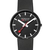 MONDAINE 瑞士國鐵Giant大錶面限量腕錶/42mm-黑面 660864BO