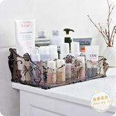 化妝品收納盒歐式透明多格化妝品收納盒桌面塑料盒子護膚品整理盒梳妝台儲物盒【好康八折】