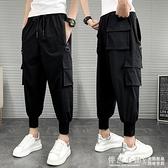 工裝褲男束腳寬鬆夏季薄款潮牌2020年新款傘兵褲潮流多口袋男褲子 怦然心動