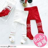 女童聖誕雪花麋鹿加厚毛圈連身褲襪 打底褲
