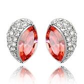 水晶耳環 925純銀耳針式-華麗鑲鑽生日情人節禮物女飾品4色73bd181【時尚巴黎】