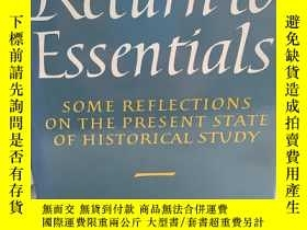 二手書博民逛書店Return罕見to Essentials: Some Refl