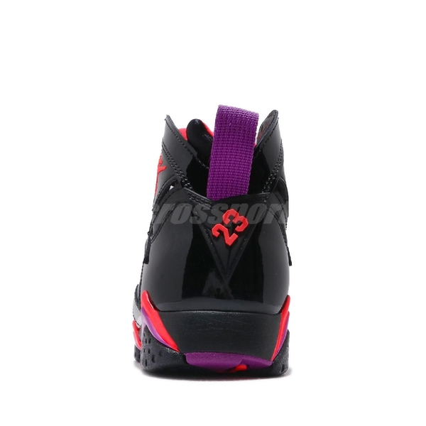 Nike Wmns Air Jordan 7 Retro Patent Leather 黑 橘 紫 籃球鞋 女鞋 喬丹 7代【PUMP306】 313358-006