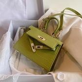 手提包 ins百搭小包包女包2021夏天流行新款潮單肩手提凱莉包網紅斜挎包 艾維朵