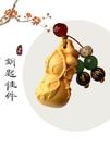 紅木汽車鑰匙扣黃楊木雕刻佛牌男士掛件女平安車飾品個性創意禮物