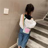 兒童包 女童可愛心形斜挎包2019新款兒童包包洋氣亮片時尚公主迷你小挎包