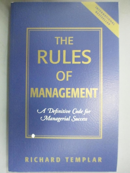 【書寶二手書T1/傳記_LES】The Rules Of Management: An Irreverent Guide…