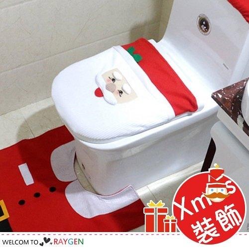 XMAS聖誕老公公馬桶套3件組 居家裝飾