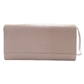 LOUIS VUITTON LV 路易威登 紫藕色EPI水波紋釦式手提包 手拿包 Honfleur M5273B