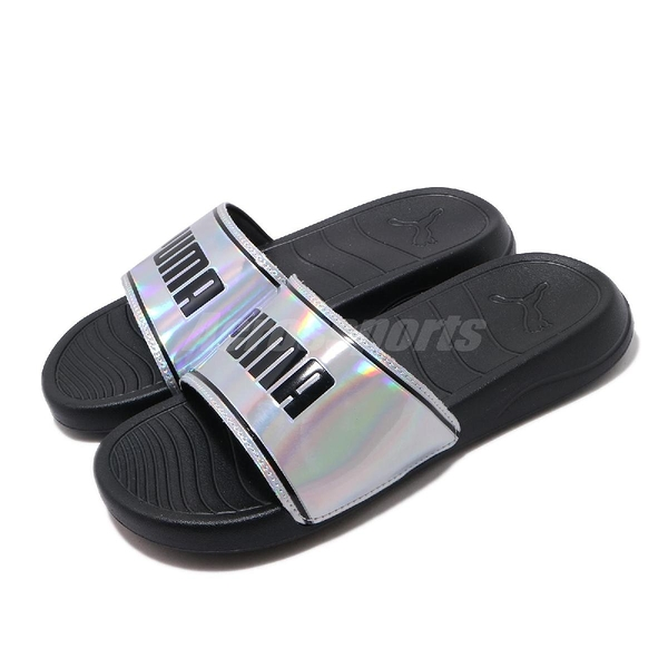 Puma 涼拖鞋 Popcat 20 Iridescent Wns 銀 黑 女鞋 基本款 涼鞋 【ACS】 37262701