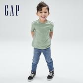 Gap男幼童 基本款素色短袖T恤 879022-綠色