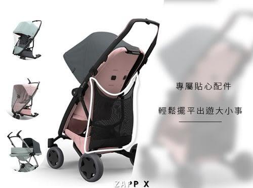 Quinny ZAPP X FLEX PLUS 嬰兒四輪手推車-旗艦版(黑篷棕布)贈提籃+雨罩[衛立兒生活館]