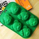 皂模  六孔小熊皂模 果凍模 蛋糕模 想購了超級小物