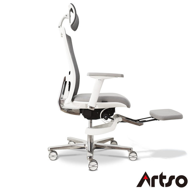 【Artso亞梭】CHA人體工學椅(送腳踏墊)- 涼感型記憶膠棉釋壓無毒電腦椅/人體工學椅/辦公椅