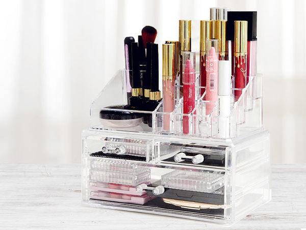 【DT髮品】壓克力 化妝品收納盒 彩妝化妝盒 收納 透明收納架 化妝櫃 彩妝盒【0020040】