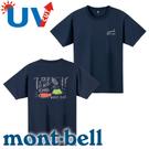 【Mont-Bell 日本 男款 Wickron WIC.T 山的道具短袖 排汗T恤《深藍》】1114249/春夏款/排汗衣