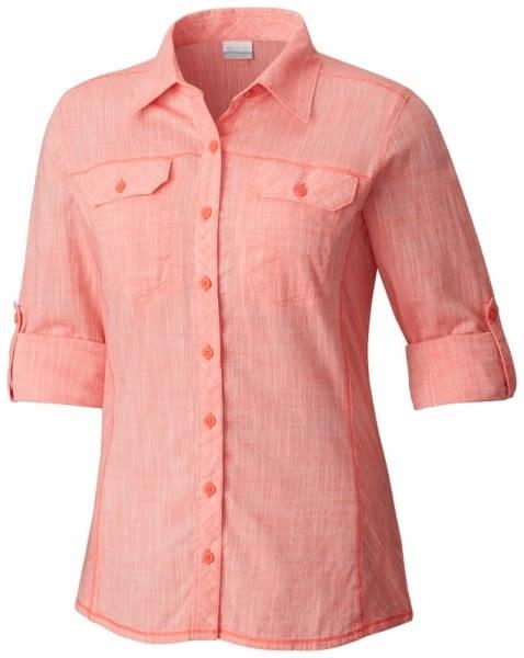 【Columbia】女款長袖襯衫-粉紅 AR7990(PK)
