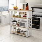 廚房置物架微波爐架切菜桌操作台2層3層多...