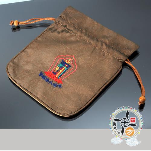 十相自在念珠袋(棕)小16公分  【十方佛教文物】