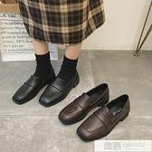 英倫風小皮鞋女2020秋季網紅新款黑色百搭復古韓版春秋粗跟單鞋子  母親節特惠