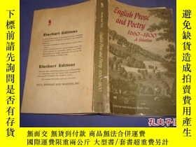 二手書博民逛書店ENGLISH罕見PR OSEAND POETRY 1660-1800Y14635 出版1961