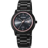 LICORNE力抗 entrée 品味生活時尚手錶-黑x玫瑰金時標/41mm LT120MBBI-R