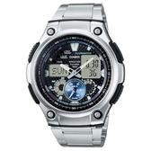 【CASIO】全新高級城市風格不鏽鋼雙顯錶-黑面(AQ-190WD-1A)