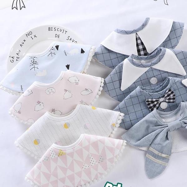 3條|嬰兒口水巾防水寶寶口水圍兜360度旋轉純棉兒童圍嘴【奇趣小屋】