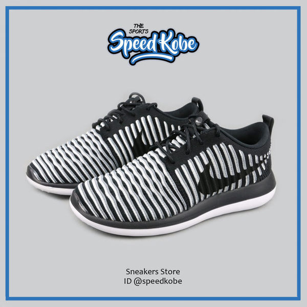 NIKE ROSHE TWO FLYKNIT 黑白 線條編織 運動 慢跑鞋 女 844929-001 ☆SP☆