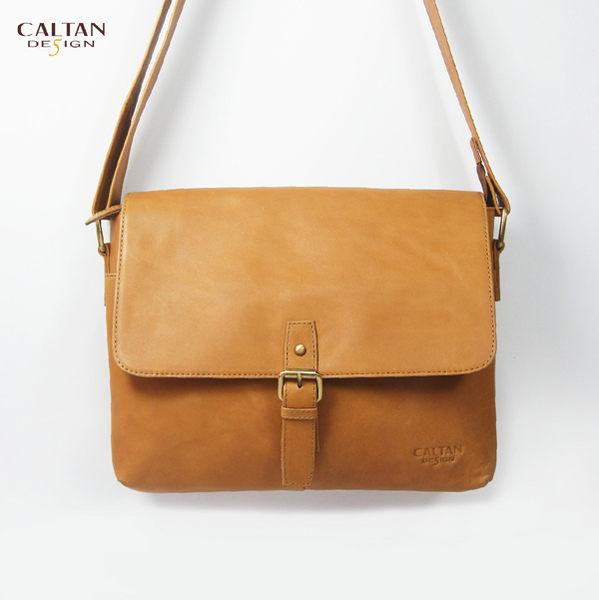 牛皮/斜背包【CALTAN】俐落真皮單扣斜背包-5385ht