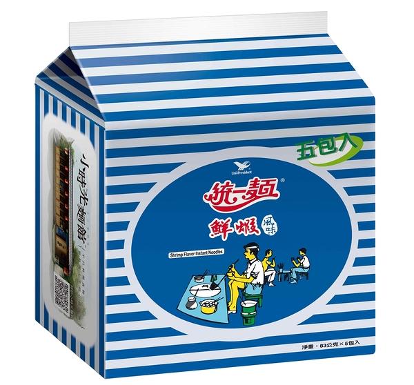 統一麵鮮蝦風味(5入)【合迷雅好物超級商城】