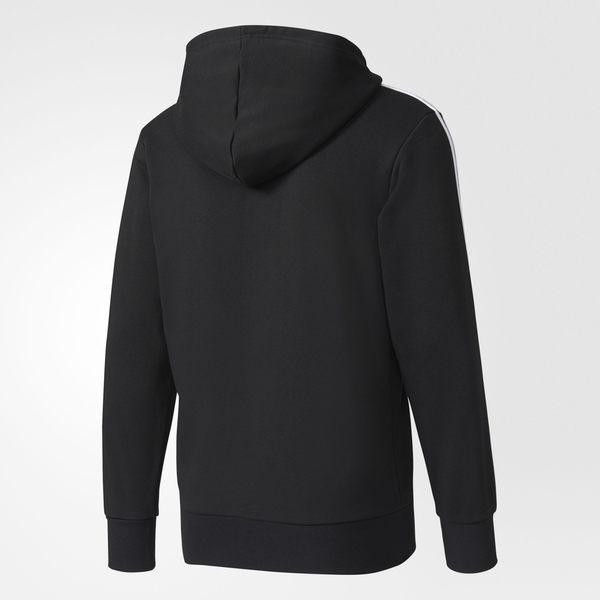 ADIDAS  ESSENTIALS 3-STRIPES HOODIE 男裝 外套 連帽 棉質 三條線 黑 白【運動世界】 S98786