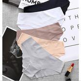 三角內褲女士三送一無痕一片式低腰性感純棉檔蕾絲中腰冰絲牛奶絲【聖誕節提前購