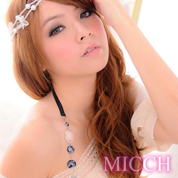 MICCH 波西米亞風幸運水晶繞頸肩帶