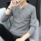 2020秋冬季新款男士長袖T恤韓版毛衣男裝針織打底衫秋衣上衣服潮