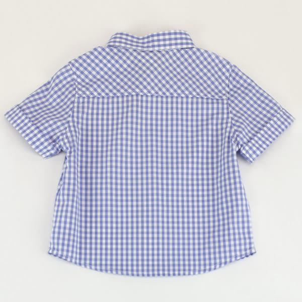 【愛的世界】純棉賽艇格紋短袖襯衫/2歲-台灣製- ★春夏上著 涼夏推薦