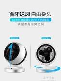 空氣循環扇奧克斯電風扇循環扇家用渦輪空氣對流扇立體搖頭學生靜音台式電扇 220V NMS陽光好物
