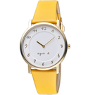 agnes b. 30週年紀念限定手錶 VJ20-KCW0Y 黃