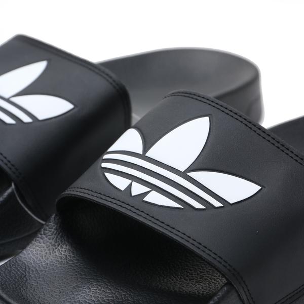 ADIDAS 拖鞋 ADILETTE LITE W 黑白 三葉草 拖鞋 舒適好穿 男女 (布魯克林) FU8298