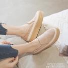 厚底鞋 休閒鞋女季新款百搭時尚內增高女鞋厚底鬆糕鞋一腳蹬樂福鞋 夏季新品
