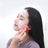 網易嚴選硅膠臉部潔面刷粉色透明柔軟面部毛孔手動清潔神器洗臉刷