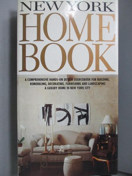 【書寶二手書T3/設計_XFA】New York Home Book_Ashley Group