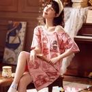 性感睡衣國風睡裙女夏季純棉短袖一字肩性感連身裙睡衣女2021年新款薄春天 愛丫