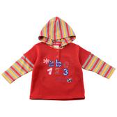 【愛的世界】彈性數字假2件連帽長袖上衣/8歲-台灣製- ---秋冬上著